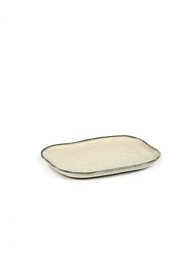 Serax Merci Beyaz Dikdörtgen Tabak 14,5X10,5Cm Beyaz